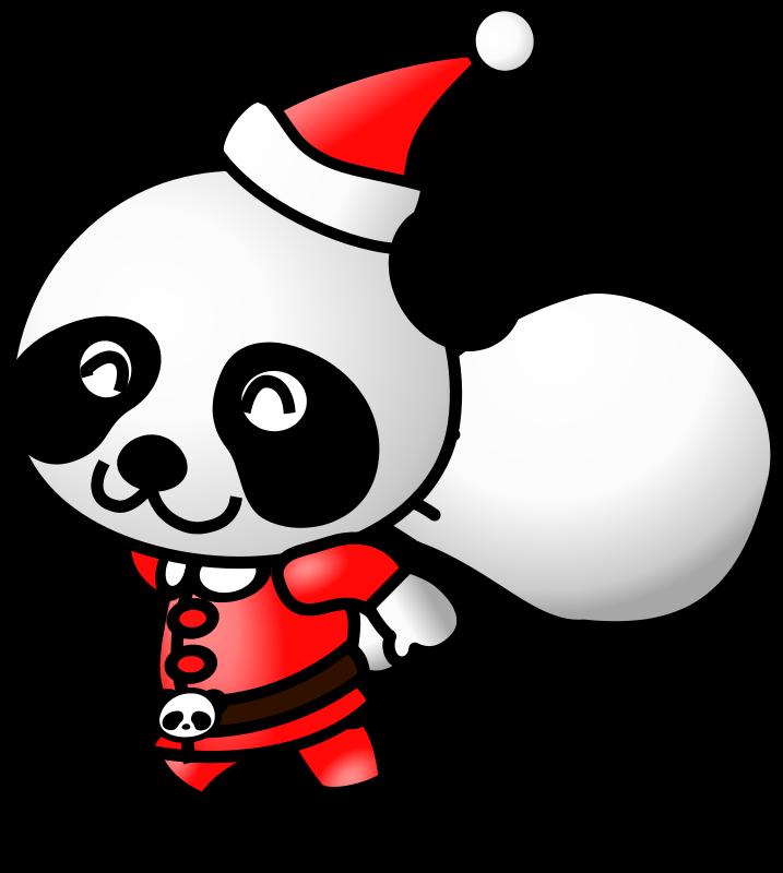 free vector Santa Panda