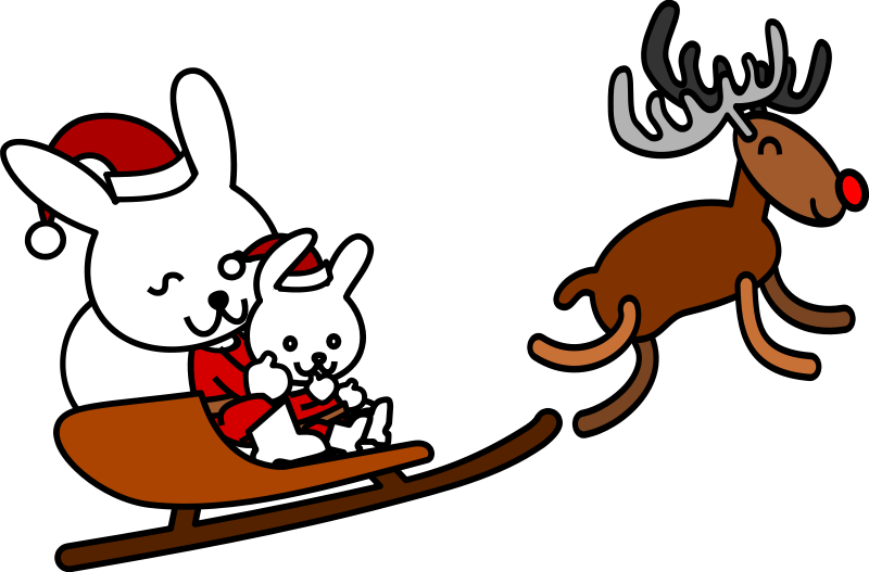 free vector Santa rabbit