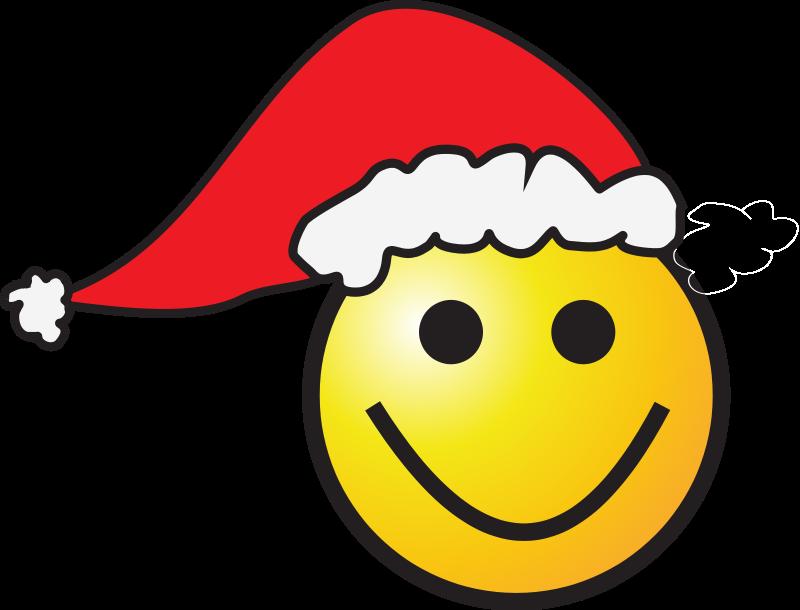 free vector Santa-Smiley