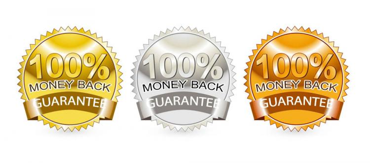 free vector Satisfaction guarantee label 04 vector