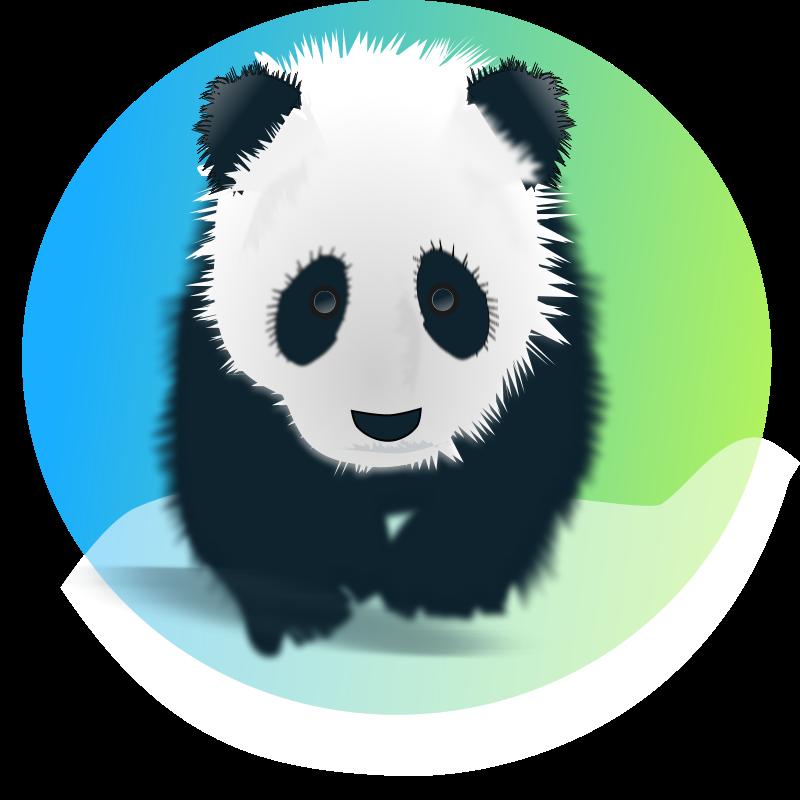 free vector Save the pandas