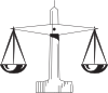 free vector Scale Of Justice clip art