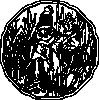 free vector Scarecrow In The Corn clip art