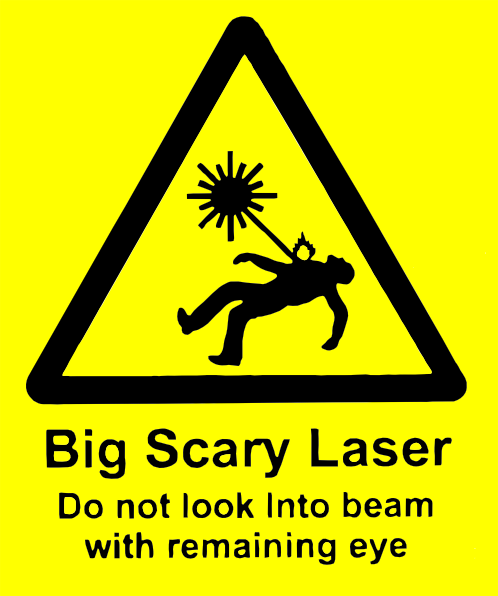 free vector Scary Laser clip art