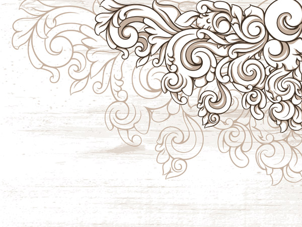 free vector Scene when europeanstyle lace border pattern vector 2