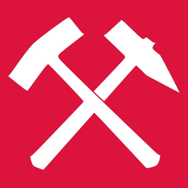 free vector Schlaegel Und Eisen Red clip art