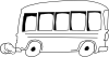 free vector School Bus Outline clip art