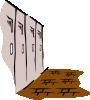 free vector School Hallway clip art