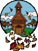 free vector School In Fall clip art