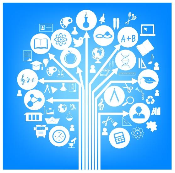 free vector School symbol form of a tree blue