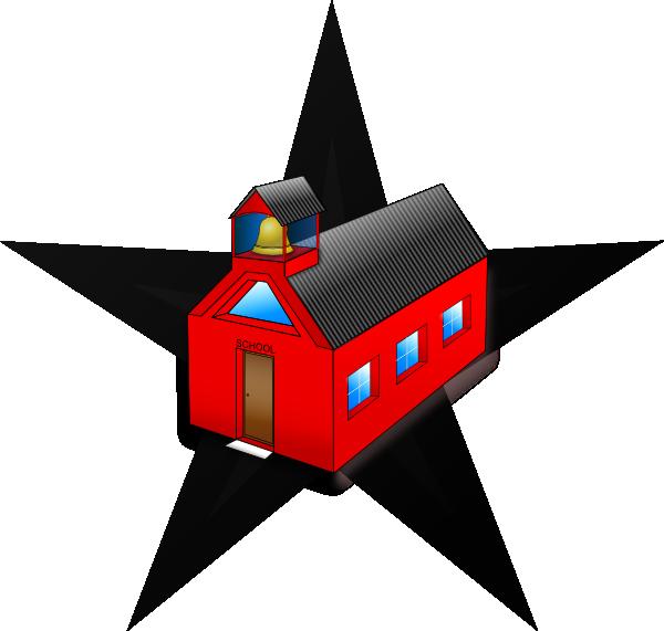 free vector Schools Barn Star clip art