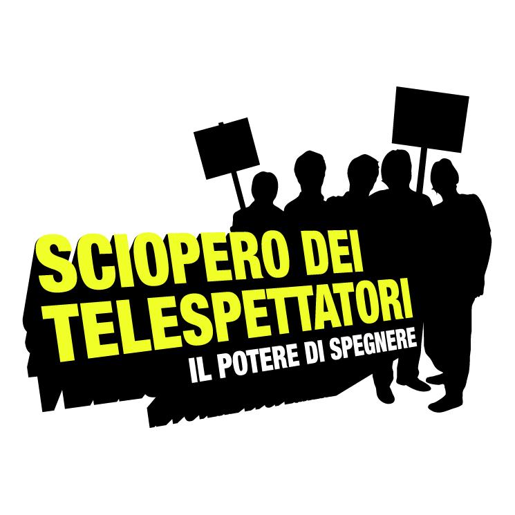 free vector Sciopero dei telespettatori