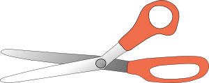 free vector Scissors Open clip art
