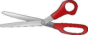 free vector Scissors Open V clip art