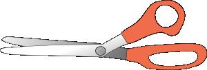 free vector Scissors Slightly Open clip art