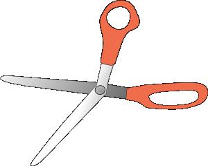 free vector Scissors Wide Open clip art