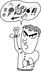 free vector Screaming And Yelling Guy clip art