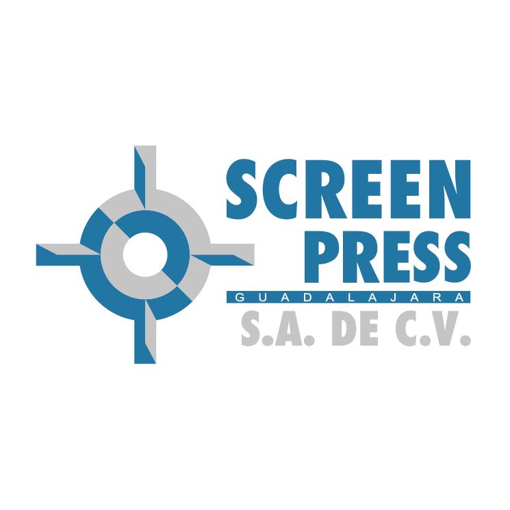 free vector Screen press
