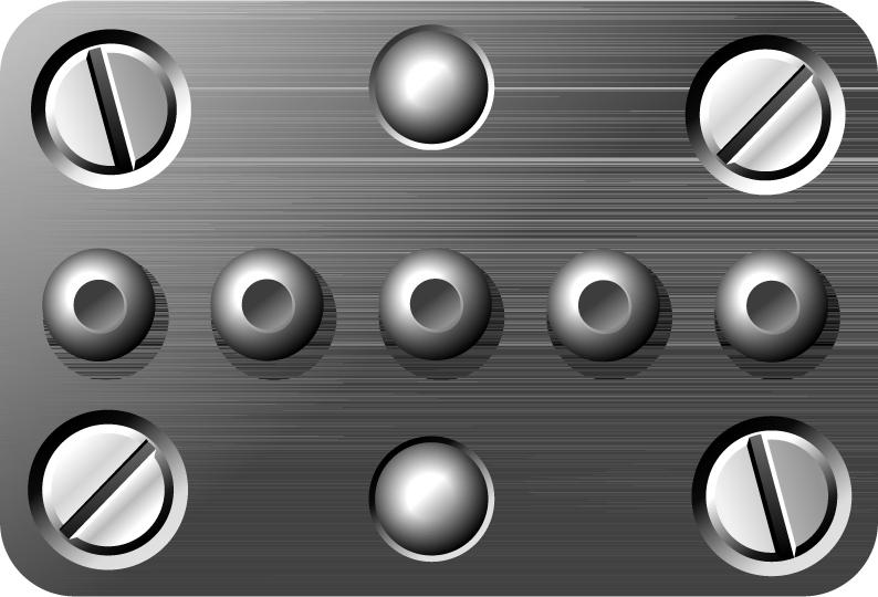 free vector Screw metal texture vector material