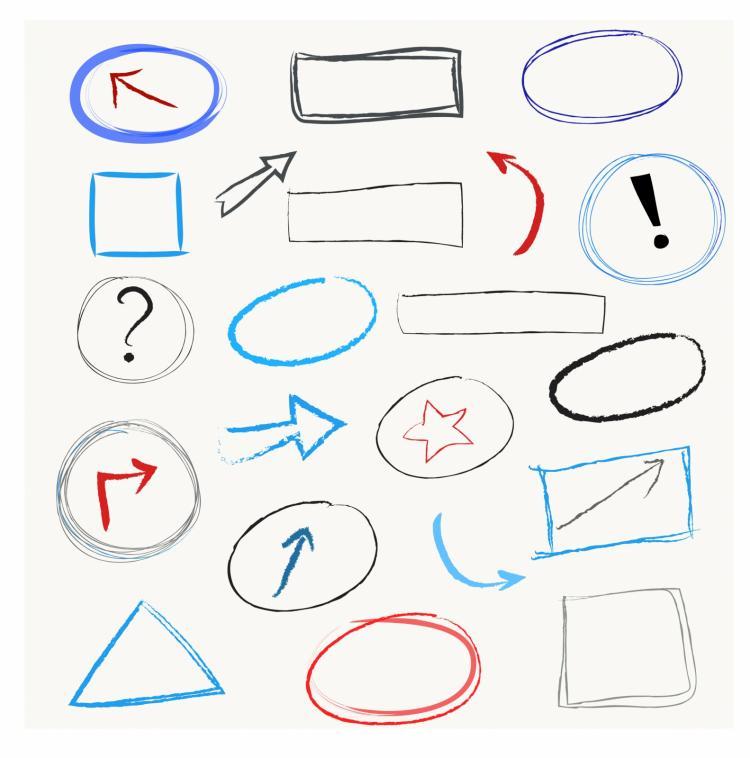 free vector Scribble design elements