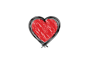 free vector Scribbled Heart