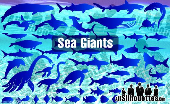 free vector Sea & Ocean Giants