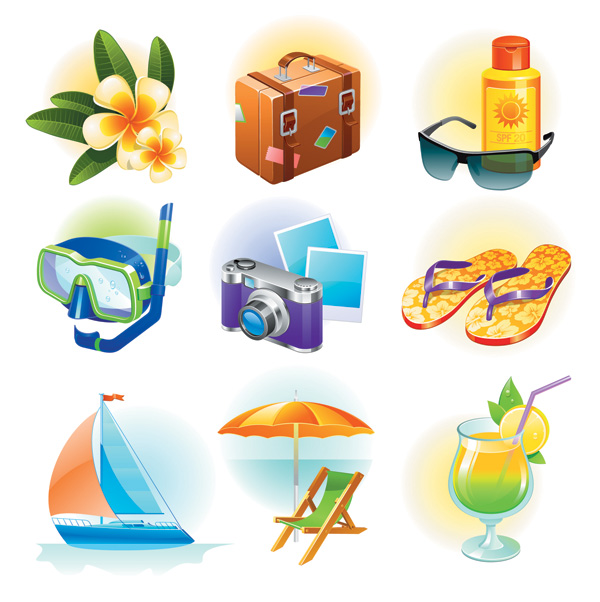 free vector Sea travel goods vector