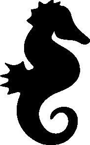 free vector Seahorse Silhouette clip art