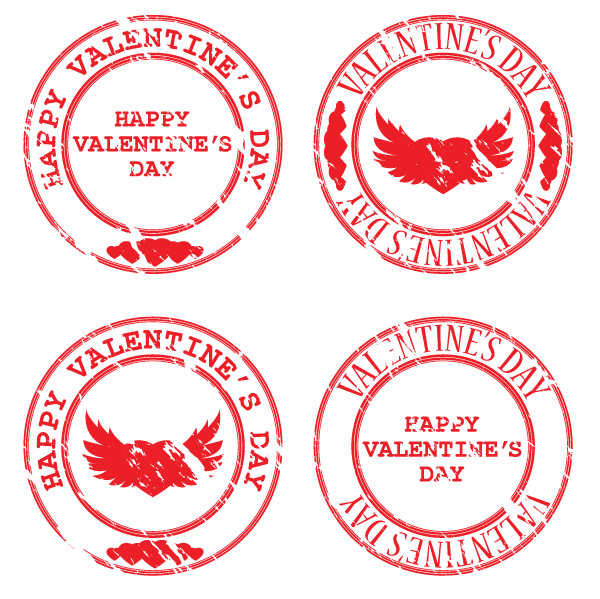free vector Seal of love vector