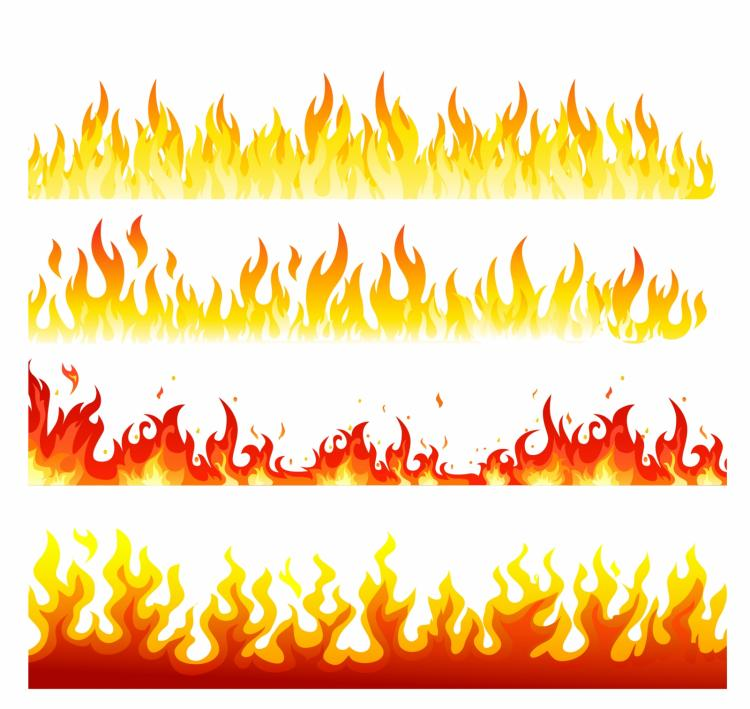 free vector Seamless flame