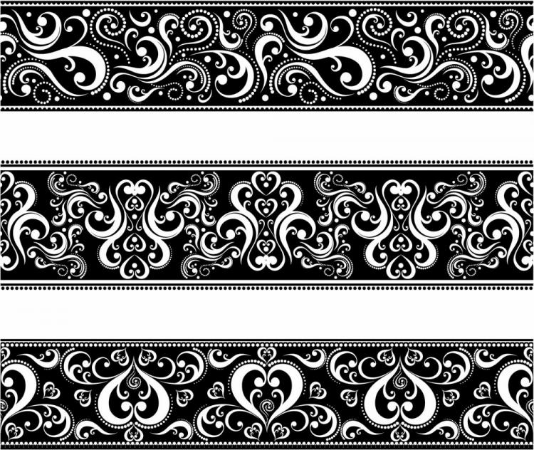 free vector Seamless Lace Vector Patterns