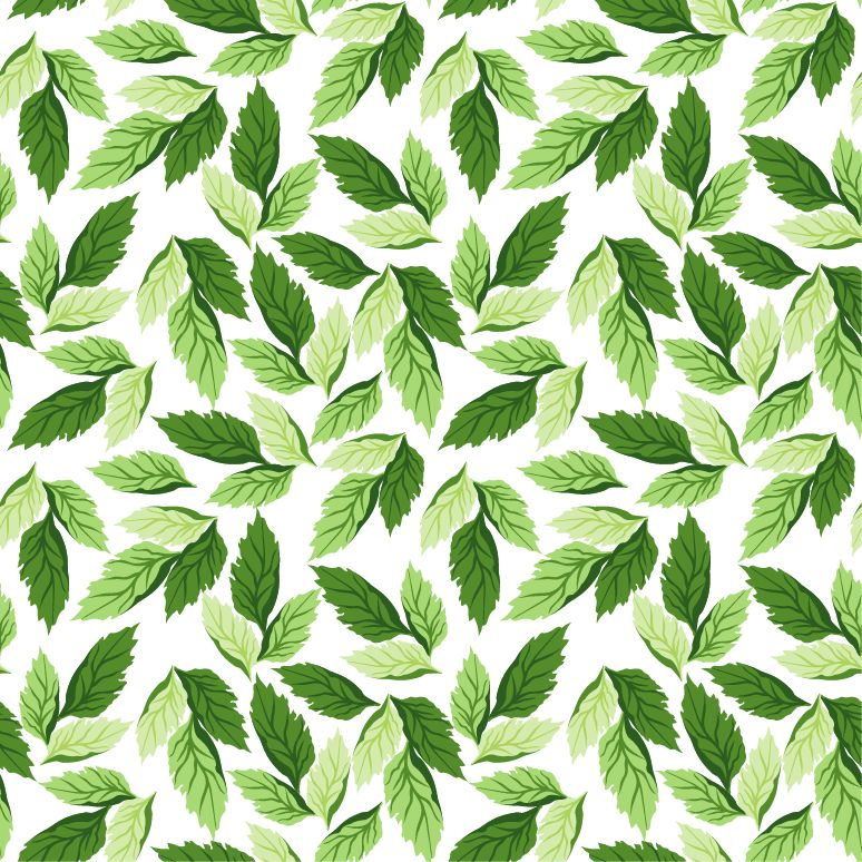 free vector Seamless Leaf Pattern Vector Background