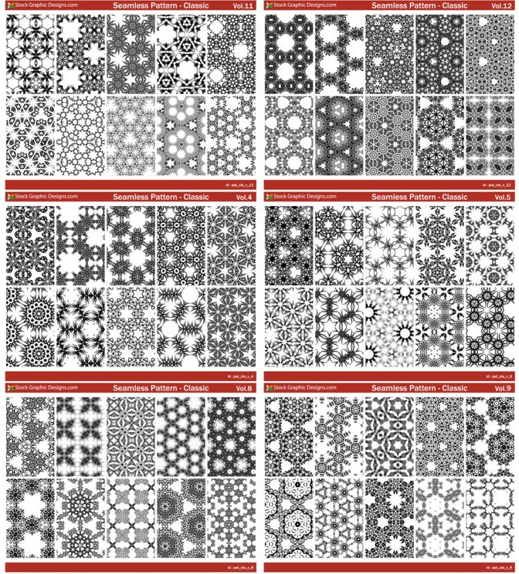 free vector Seamless Pattern Classic