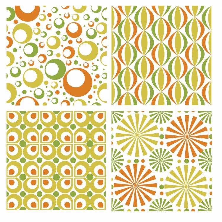 free vector Seamless retro patterns