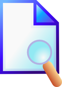 free vector Search Document clip art