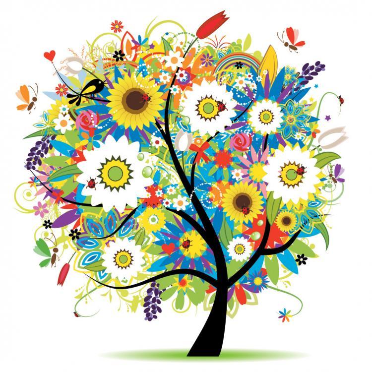 free vector Seasons tree vector