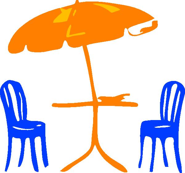 free vector Seats With Umbrella clip art