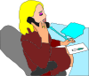 free vector Secretary Answering Phone clip art