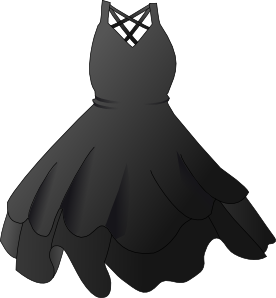 free vector Secretlondon Black Dress clip art