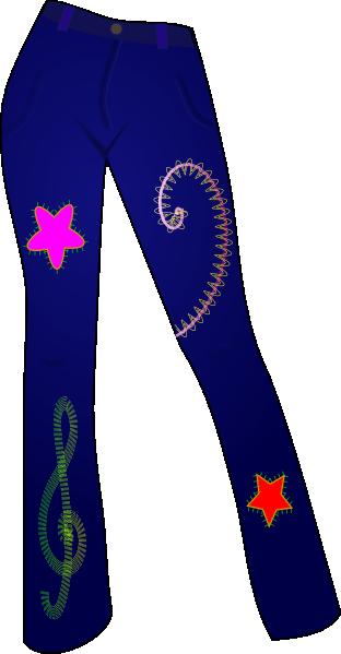 free vector Secretlondon Jeans With Patterns clip art
