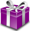 free vector Secretlondon Purple Present clip art