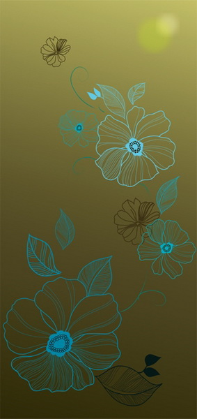 free vector Selection of flowers vector background 2