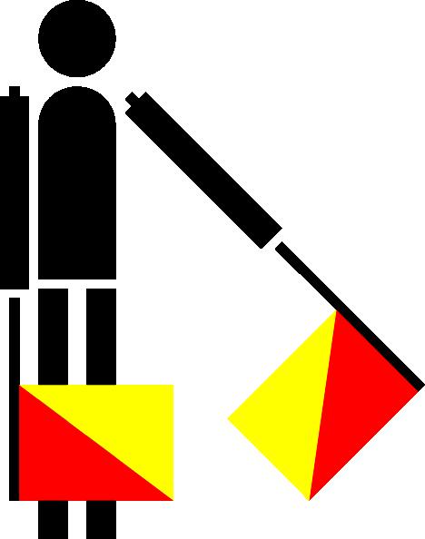 free vector Semaphore Golf clip art