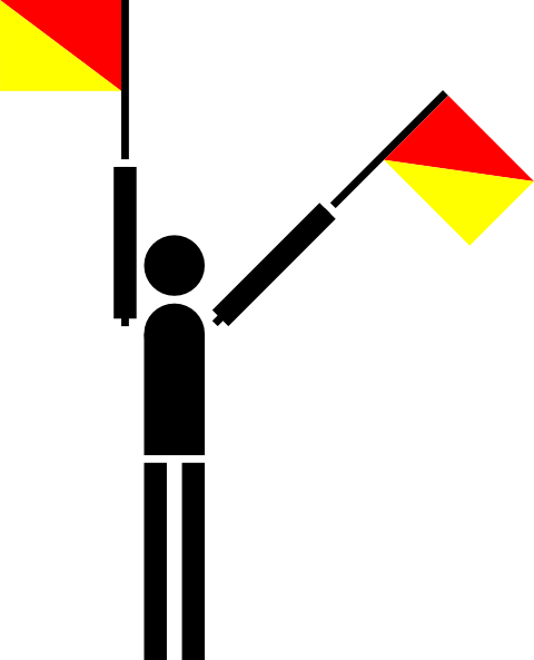 free vector Semaphore Numerical clip art