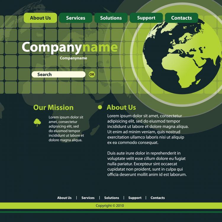 free vector Sense of technology website template 01 vector