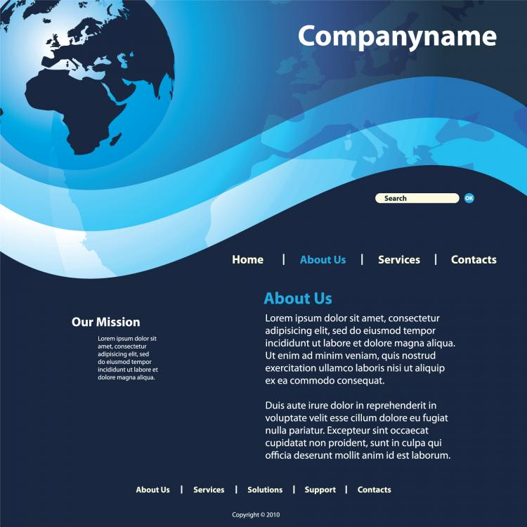 free vector Sense of technology website template 04 vector