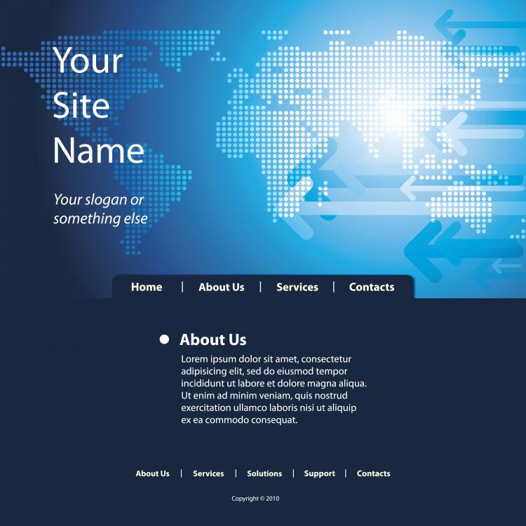 free vector Sense of technology website template 05 vector