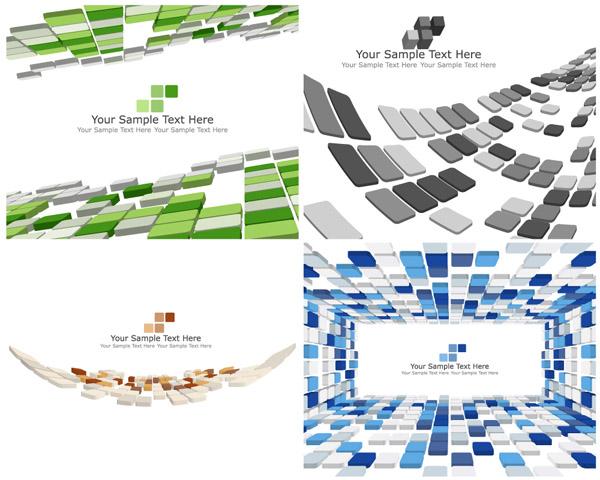 free vector Sense of threedimensional vector space box background