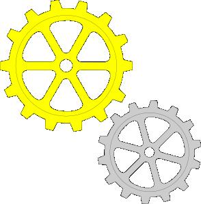 free vector Separate Gears clip art