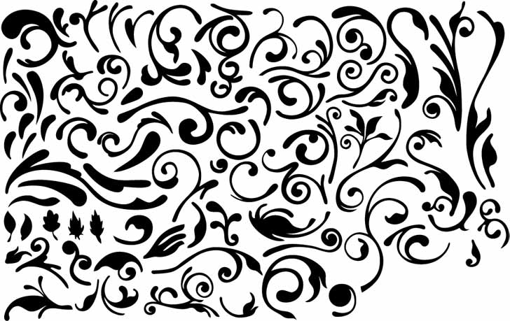 Series of black and white design elements vector 4 simple ...
